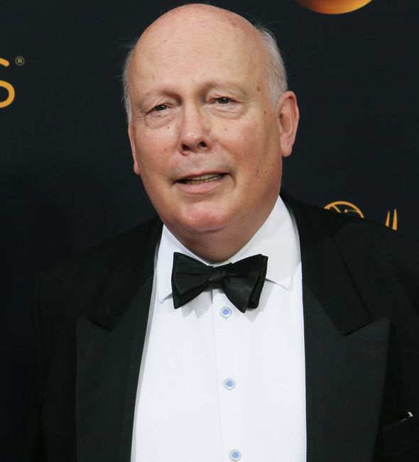 Julian Fellowes on the red carpet