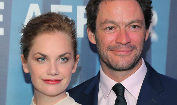 Ruth Wilson and Dominic West smiling