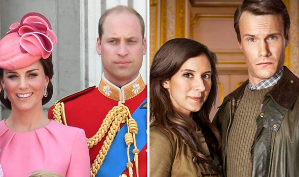 The Windsors: Prince William and Kate, played by Louise Ford and Hugh Skinner