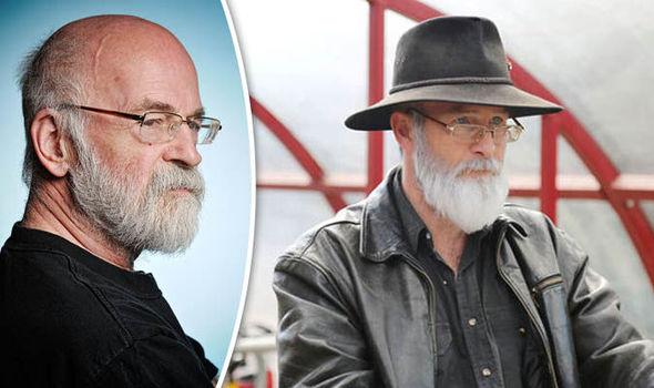 Paul Kaye as Terry Pratchett (right)