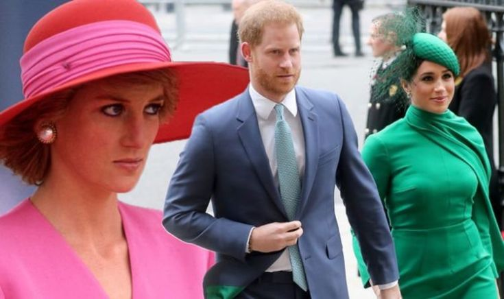 'Diana would be horrified' by Meghan and Harry leaving royal family for LA claims Lady C