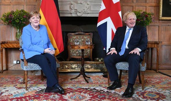 Boris Johnson Angela Merkel