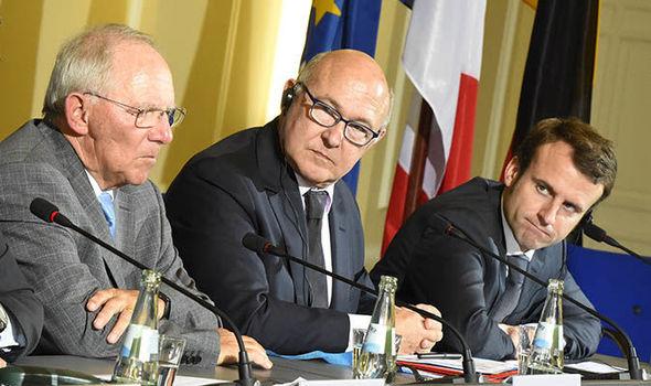 Mr Macron and Mr Schäuble