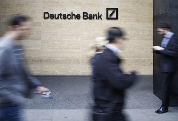 Die Anteile an der Deutschen Bank fiel