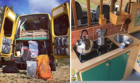 Campervan conversion: Couple turn old DHL van into dream home now worth £15k