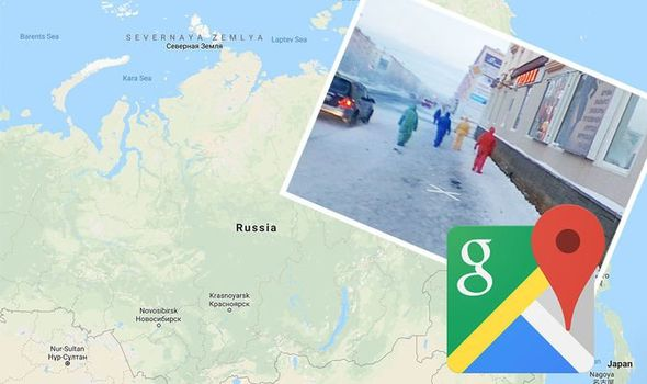The map legend is sometimes called the map key. Google Maps Street View Mysterious Figures Turn Out To Be Google Staff Caught On Camera Travel News Travel Express Co Uk