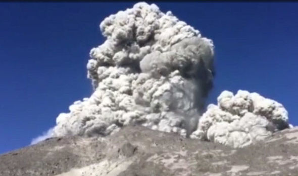 Watch Shocking Moment Indonesian Volcano Erupts As Hikers