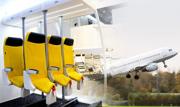 chair stand up trick folding amazon plane seats new model shows passengers standing on short haul