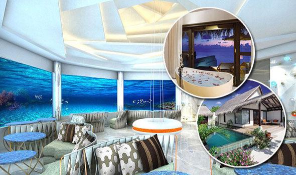 Tropical Luxury Hotel Bedroom