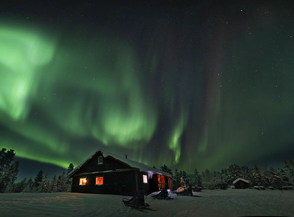 aurora northern lights borealis sweden