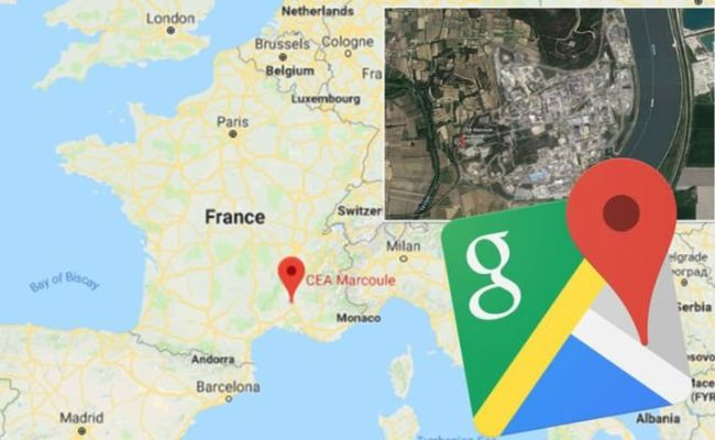 Google Maps Google Earth Blurs Out France Nuclear Site