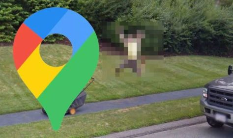 Google Maps Street View: 'Flying man' reaches unlikely feat while mowing lawn