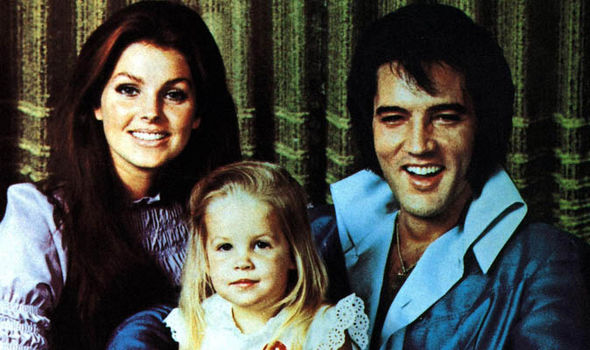 Elvis, his wife and daughter