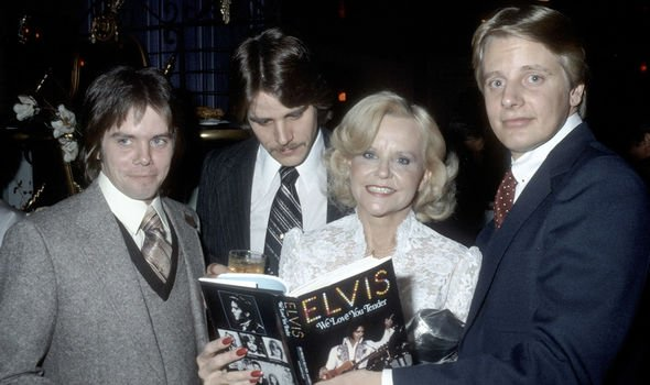 Elvis Dee's stepmother and stepbrothers, including Rick (far right)