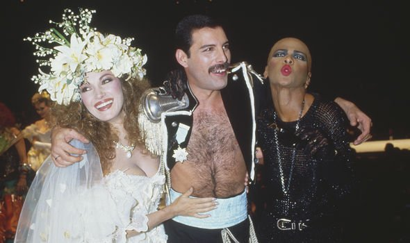 Freddie Mercury birthday party: He wore the same jacket to Fashion Aid with Jane Seymour