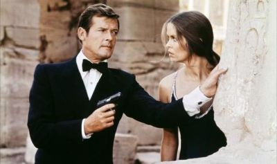 Roger Moore met his female match in Barbara Bach in The Spy Who Loved Me