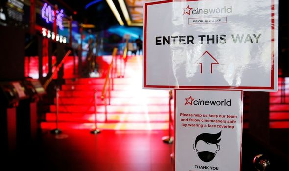 Masks have been worn in Cineworld cinemas since their reopening