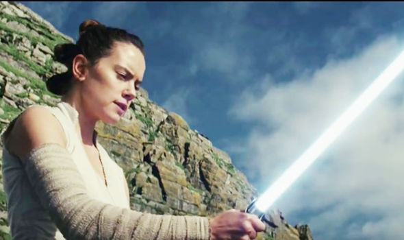 Star Wars 8 Rey hears a scream as she holds the lightsaber