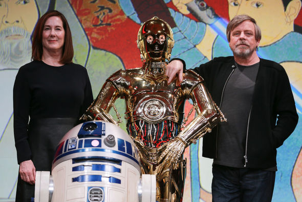 Star Wars 9: Mark Hamill with Kathleen Kennedy