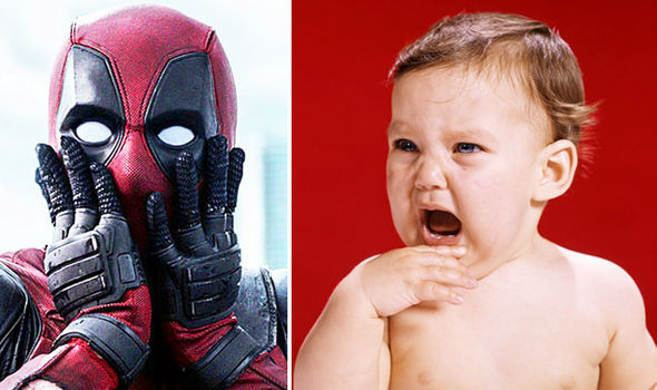 deadpool and a baby