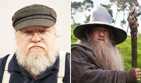 george rr martin and gandalf