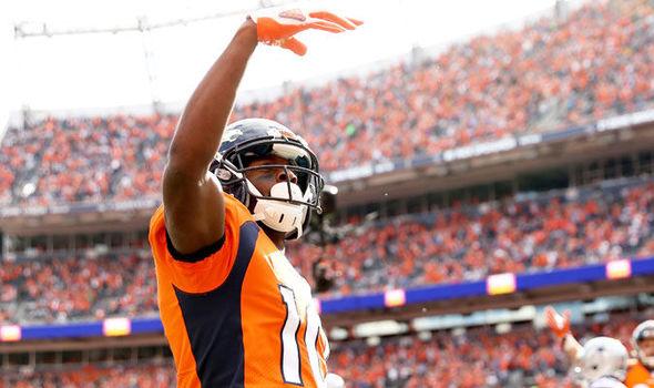 Broncos wide receiver Emmanuel Sanders