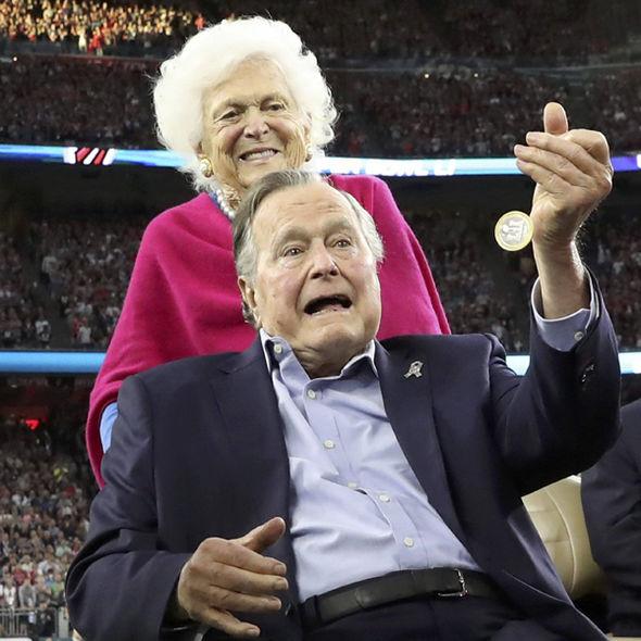 George H.W. Bush and his wife Barbara