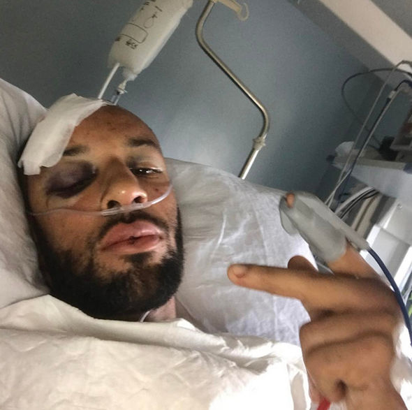 James Ellington in hospital bed