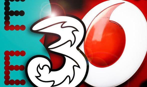 EE Vodafone Three