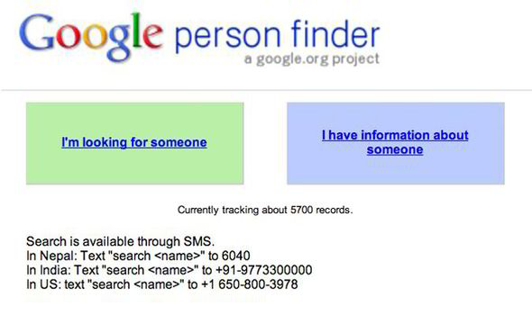 person finder google launches