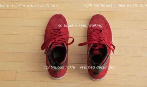 Chaussures connectées vibrantes qui vous serviront de GPS