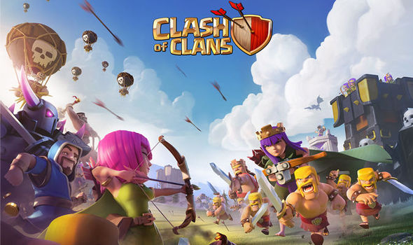 clash of clans hacked mobile game