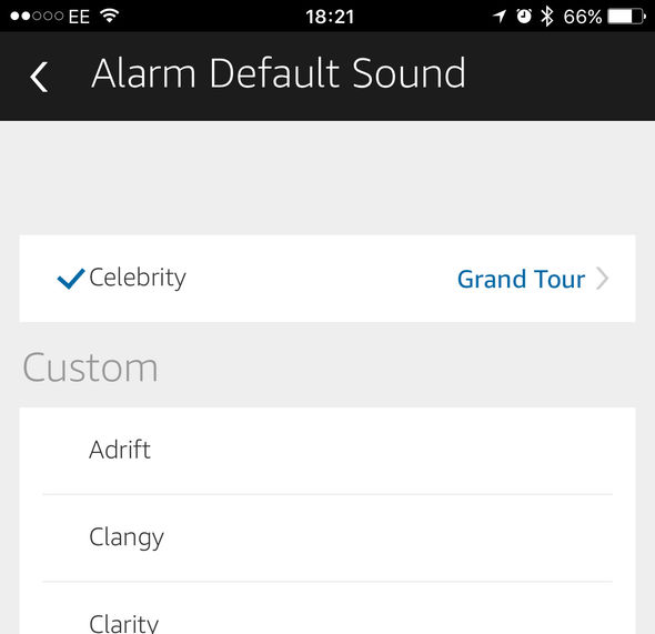 Amazon Echo alarm