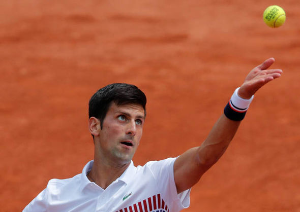 Novak Djokovic at the French Open 2017