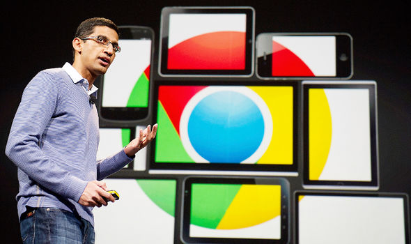 Sundar Pichai speaks about Google Chrome on-stage