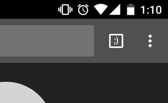 Google Chrome Incognito tab hidden message