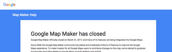 Google has decided to close its Google Maps Maker service