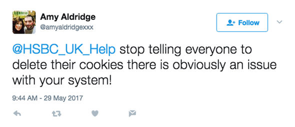 Not everyone is convinced by HSBC's advice to delete cookies and cache