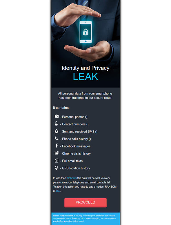LeakerLocker claims to have access to your location data, Facebook messages, SMS, and web history
