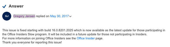 Microsoft Office bug fix download release date