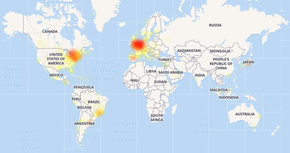 The outage appears to have affected users across the globe, with thousands now offline