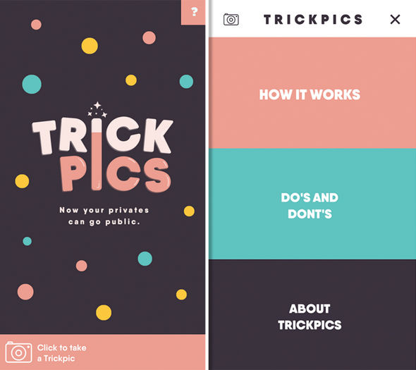 TrickPics lets users censor their rude selfies