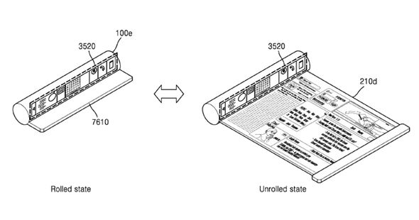 Samsung planning ROLL-UP displays for future smartphones