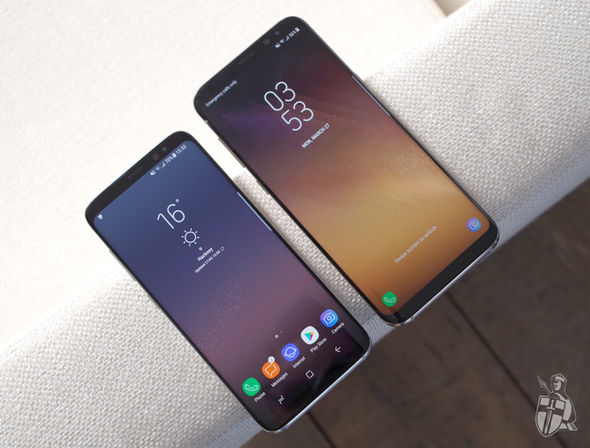 The Galaxy S8 has a 5.8inch Quad HD display, while the S8  clocks in at 6.2inches