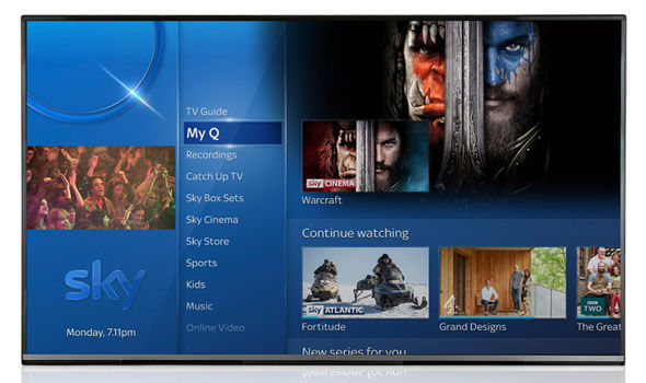 Sky has reshuffled the Sky Q main menu, bringing TV Guide much closer
