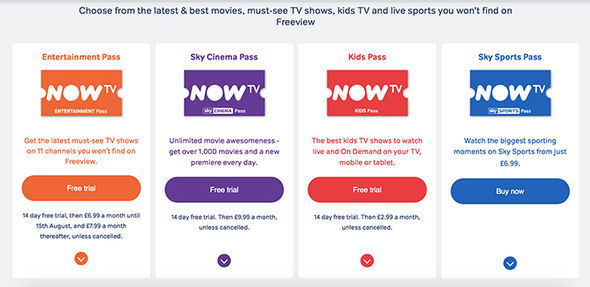 Only the Entertainment Pass, which includes access to 11 premium channels, will see a price increase