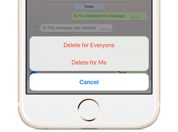 WhatsApp introduced the ability to delete sent messages earlier this week