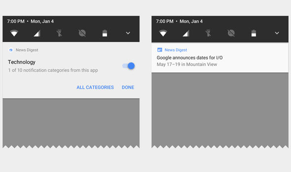android o update google release date notifications