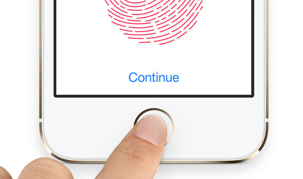 apple iphone touch id scan fingerprint