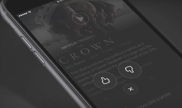 netflix thumbs rating mobile app